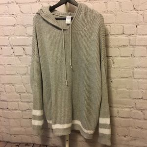 Gray Hooded Sweater
